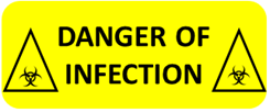 Image result for danger of infection label